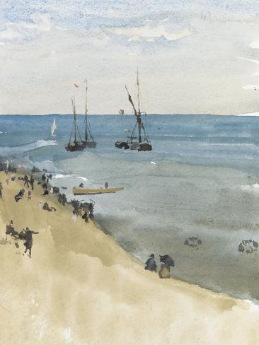 Green and Silver - the Bright Sea, Dieppe, C.1883-85 Giclee Print