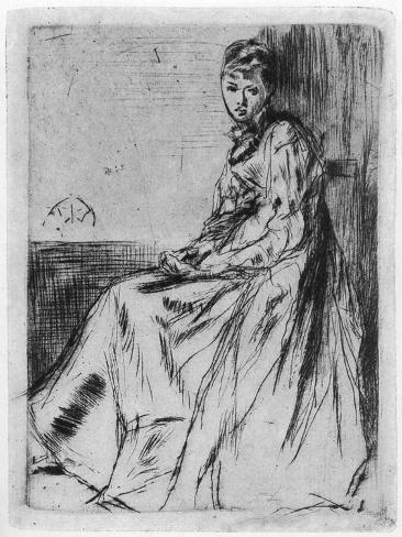 Maude, Seated, 19th Century Stampa giclée