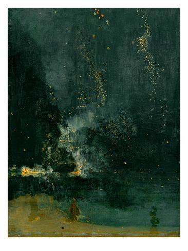 The Falling Rocket, 1875 (Oil on Panel) Gicléedruk