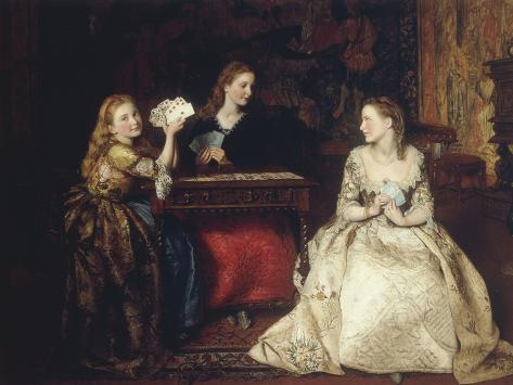 Hearts are Trumps, 1866 Lámina giclée
