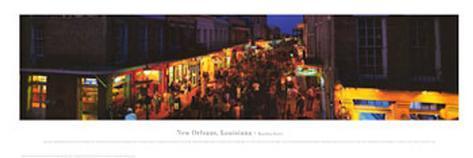 Bourbon Street, New Orleans, Louisiana Art Print