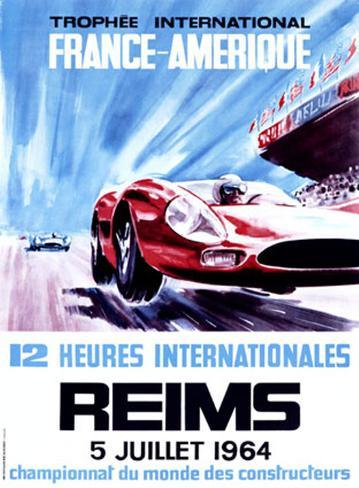 12 Heures Internationale, Reims, 1964 Giclee Print