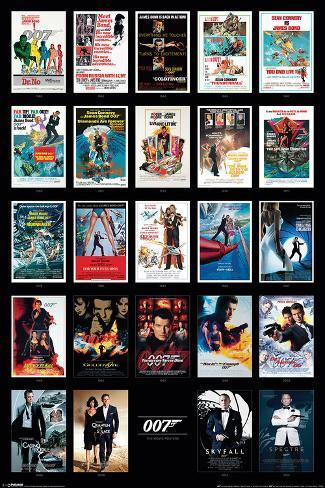 James Bond- 24 Movies Poster