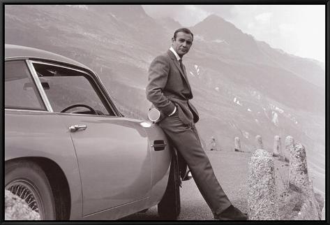 James Bond: Aston Martin Framed Canvas Print