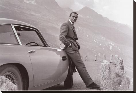 James Bond: Aston Martin Stretched Canvas Print