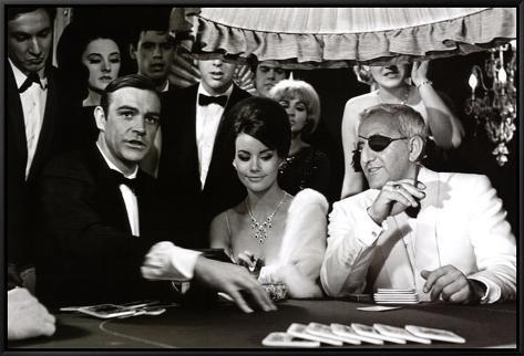 James Bond at the Casino, Thunderball Framed Canvas Print