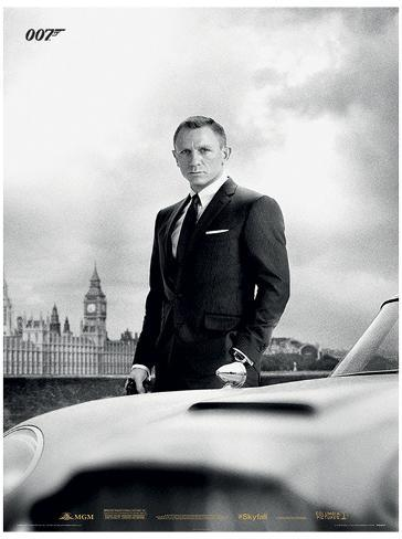 James Bond - Bond & Db5 (Skyfall) Movie Poster Print Masterprint
