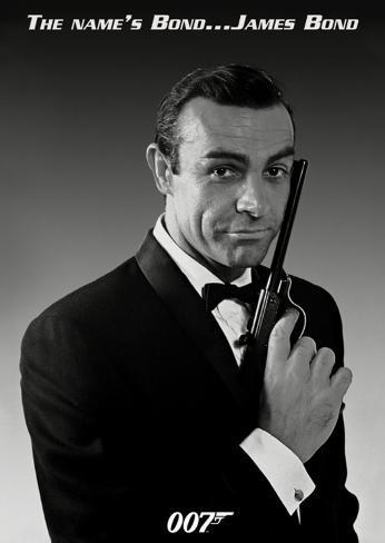 James Bond (Connery Tuxedo) Poster Card