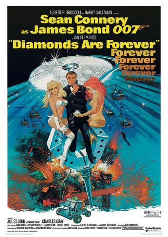 James Bond (Diamonds Are Forever 2) Movie Poster Print Masterprint