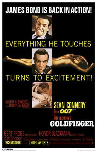 James Bond - Goldfinger Excitement Masterprint