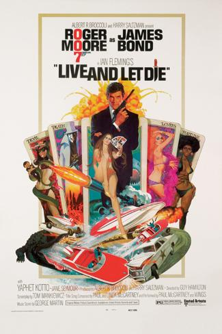 James Bond-Live and Let Die Poster