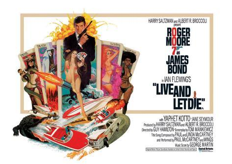 James Bond, Live and Let Die Stretched Canvas Print