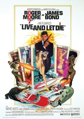 James Bond (Live & Let Die One-Sheet) Movie Poster Print マスタープリント