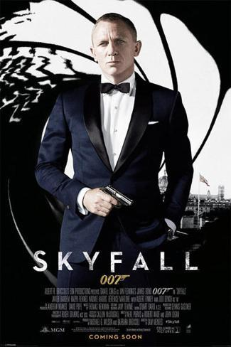 James Bond Skyfall - Credits Poster