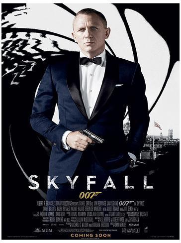James Bond (Skyfall One Sheet - Black) Movie Poster Print Masterprint