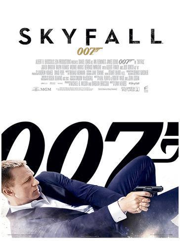 James Bond (Skyfall One Sheet - White) Movie Poster Print Masterprint