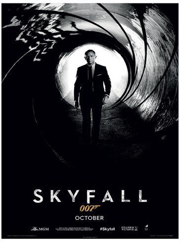 James bond skyfall teaser movie poster print