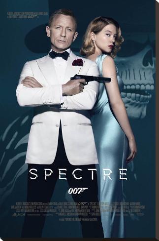 James Bond- Spectre One Sheet Impressão em tela esticada