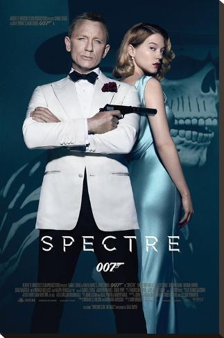 James Bond- Spectre One Sheet Stretched Canvas Print