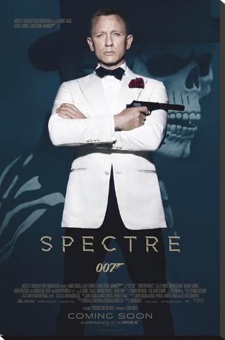 James Bond- Spectre Skull Impressão em tela esticada