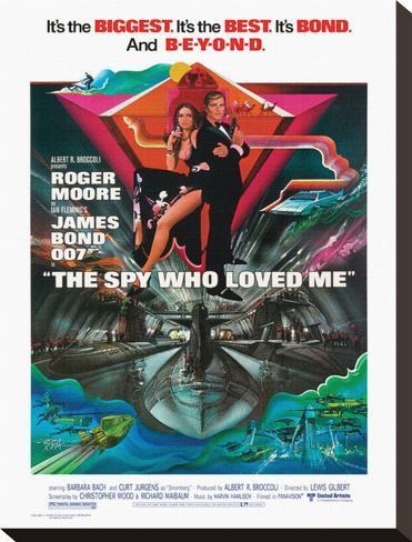 James Bond, Spy Who Loved Me Stretched Canvas Print