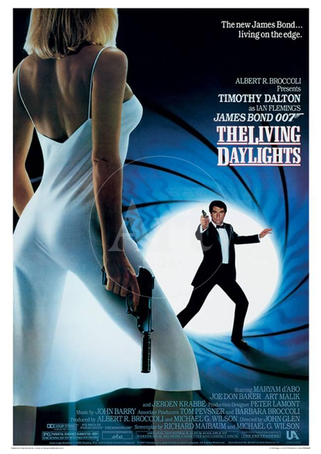 james bond the living daylights one sheet movie poster print
