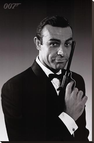James Bond Stretched Canvas Print