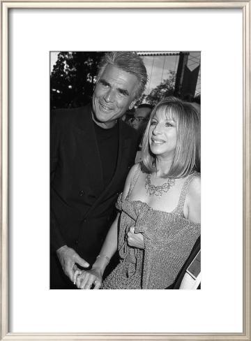 James Brolin and Barbara Streisand Framed Art Print