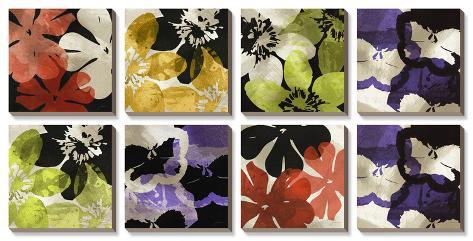 Bloomer Tiles Canvas Art Set