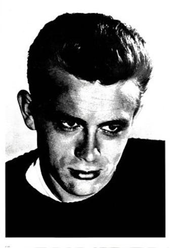 James Dean Face Close-Up Movie Poster Print Poster