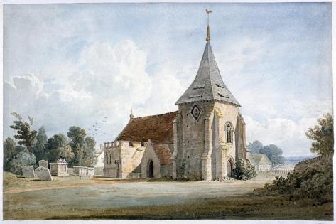 Thirnham Church, Near Maidstone, Kent, 19th Century Giclee Print