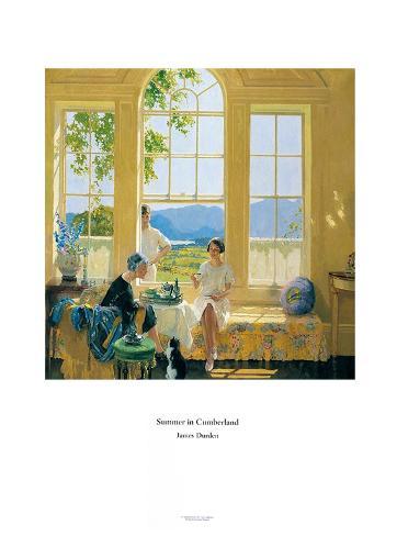 Summer in Cumberland Art Print