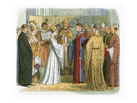 Marriage of King Henry V and Katherine of France Giclee Print