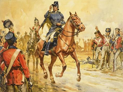Duke of Wellington Rallying His Troops Giclee Print