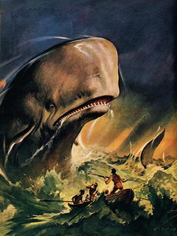 Moby Dick Giclee Print