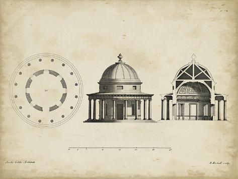 Building Section and Plan II Art Print