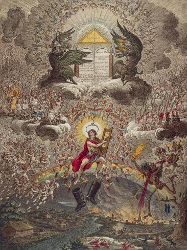 The Apotheosis of Hoche - Caricature of the Death of General Lazare Hoche, 1798 Lámina giclée