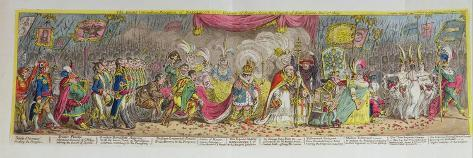 The Grand Coronation Procession of Napoleon Lámina giclée