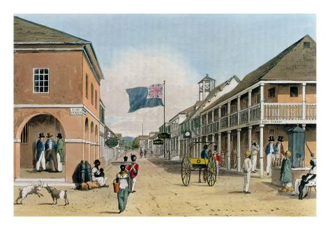 View of Harbour Street, Kingston, Jamaica Giclee Print