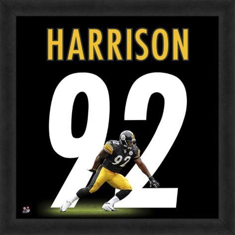 James Harrison, Steelers representation of the player's jersey Framed Memorabilia