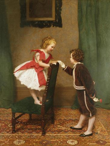 Miss Lily's First Flirtation Stampa giclée
