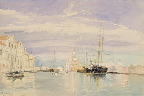 The Giudecca with S. Giorgio Maggiore, Venice, 1857 Impressão giclée