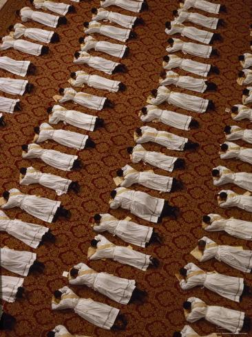 Catholic Clergy Prostrate Themselves During Ordination Ceremonies Photographic Print