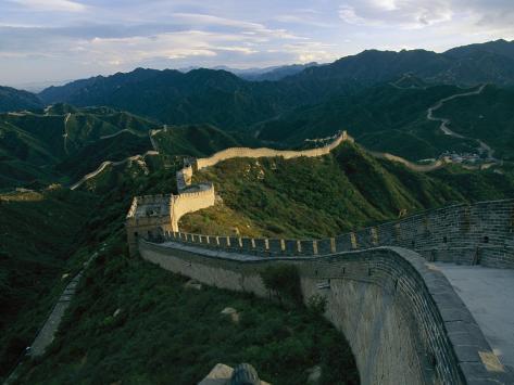 The Great Wall of China at Badaling Photographic Print