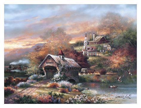 Old Mill Creek Art Print