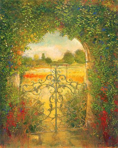 English Garden III Art Print