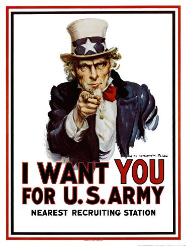 I Want You for the U.S. Army, c.1917 Art Print