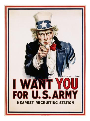 I Want You for the U.S. Army, Recruitment Giclee Print