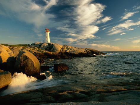 Scenic View of the Rocky Coastline Near Peggys Cove Photographic Print