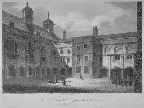Christ's Hospital from the Cloisters, City of London, 1805 Giclee Print